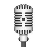 Vector illustration realistic microphone. Realistic retro microphone. Vector illustration iron microphone in a realistic style Royalty Free Stock Photo