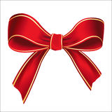 Vector illustration of realistic red bow Royalty Free Stock Image