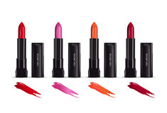 Vector illustration realistic tint lipstick and its container. Stock Image