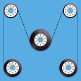 A vector illustration of a recordable babin of Royalty Free Stock Image