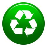 Vector illustration recycle green button Royalty Free Stock Image