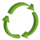 Recycling symbol. Vector illustration of recycling symbol Royalty Free Stock Photo