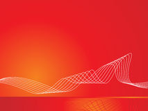 Vector illustration on a Red background Stock Photography