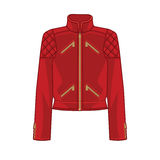 Vector illustration of red bomber jacket Stock Photo