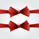 Two red bow vector illustration