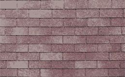 Vector illustration of red brick wall Stock Images
