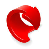 Vector illustration of red 3d arrow Royalty Free Stock Photos