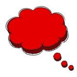Vector Illustration  of Red 3D Speech Bubble . EPS8 . Vector of Red 3D Speech Bubble . EPS8 Stock Images