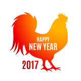 Vector Illustration of Red Fire Rooster, Symbol of 2017 Year on. The Chinese Calendar. EPS10 Stock Image