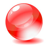 Vector illustration. Red glossy circle web button royalty free illustration