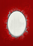 Vector illustration of red and gray frame Royalty Free Stock Photos