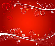 Vector illustration of red hearts Royalty Free Stock Photo