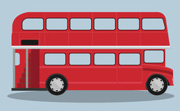 A vector illustration of a red london bus Stock Photos