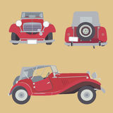 Vector retro car Royalty Free Stock Image