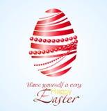 Vector illustration of red ribbon Easter egg Stock Photo