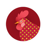 Vector illustration of  red rooster.Symbol of new year 2017 . Royalty Free Stock Photo
