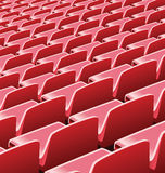 Vector illustration of red seats in a soccer stadium Royalty Free Stock Image
