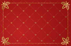 Vector illustration of red vintage frame Royalty Free Stock Photo