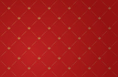 Vector illustration of red vintage wallpaper Royalty Free Stock Photos