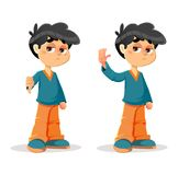 Refusing Rejecting Young Boy Expressions vector illustration