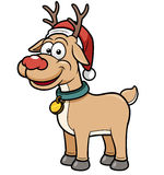 Reindeer child. Vector illustration of Reindeer child with Christmas red hat Royalty Free Stock Images