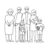 Vector design of relatives and dad symbol. Collection of relatives and grandpa stock vector illustration. stock image