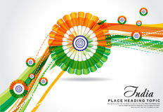 Vector illustration republic day wave background Royalty Free Stock Photo