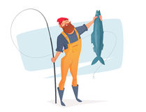Vector illustration for rest on a fishing trip. Royalty Free Stock Image