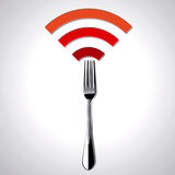 Vector Illustration of Restaurant WiFi Royalty Free Stock Image