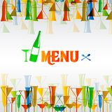 Restaurant wine bar menu design Stock Images