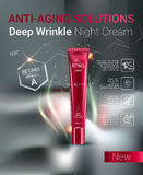 Vector Illustration with Retinol cream tube. Stock Images