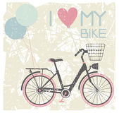Vector illustration of retro bicycle Stock Image