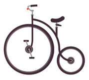 Vector illustration of retro bicycle. Vector illustration of vintage bicycle on the white background royalty free illustration