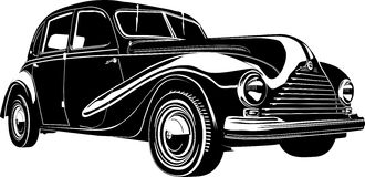 Vector Illustration Retro Car Royalty Free Stock Photo