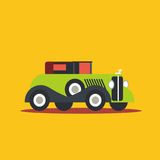 Vector illustration retro car. Cartoon of illustration fast car Royalty Free Stock Images