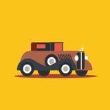 Vector illustration retro car. Cartoon of illustration fast car Stock Photography
