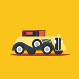 Vector illustration retro car. Cartoon of illustration fast car Stock Image