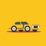 Vector illustration retro car. Cartoon of illustration fast car Royalty Free Stock Image