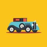Vector illustration retro car. Cartoon of illustration fast car Stock Photos