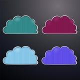 Vector illustration retro clouds Stock Image