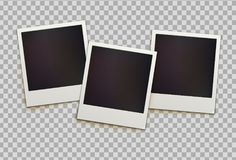 Retro instant photo frames stock illustration