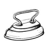 Vector illustration of retro iron in the thumbnail style Stock Image