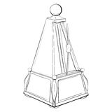 Vector illustration of retro metronome made in thumbnail style Stock Photos