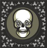 Toy skull spinner Royalty Free Stock Image