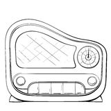 Vector illustration of retro radio made in the thumbnail style Stock Photos