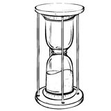 Vector illustration of retro sand clock made in the thumbnail style Royalty Free Stock Image