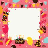 Retro Happy Birthday Surprise Party Background. A vector illustration of retro theme happy birthday surprise party background. The image is filled with party vector illustration