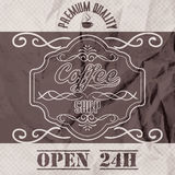 Vector illustration of a retro vintage coffee shop brochure Royalty Free Stock Photography
