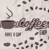 Vector illustration of a retro vintage coffee shop brochure Royalty Free Stock Image