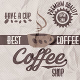 Vector illustration of a retro vintage coffee shop brochure Stock Photography